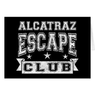 Club del escape de Alcatraz Tarjeta De Felicitación