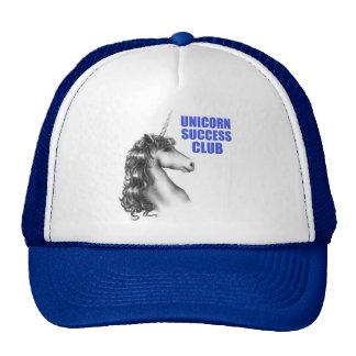 Club del éxito del unicornio gorras de camionero