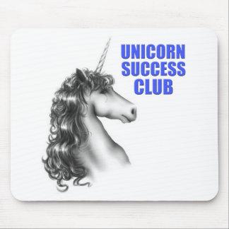 Club del éxito del unicornio tapetes de ratones