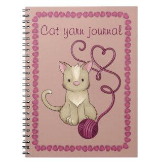 club del hilado del gato libros de apuntes con espiral
