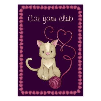 club del hilado del gato tarjetas de visita grandes