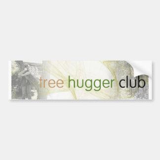 club del hugger del árbol etiqueta de parachoque
