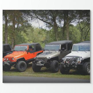 Club del jeep papel de regalo
