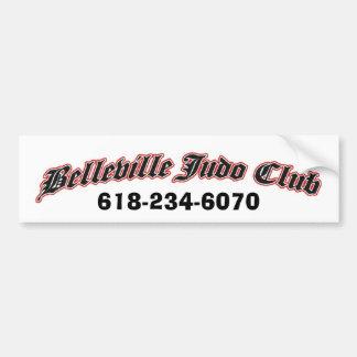 club del judo de Belleville, 618-234-6070 Pegatina Para Auto
