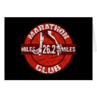 Club del maratón tarjeta de felicitación