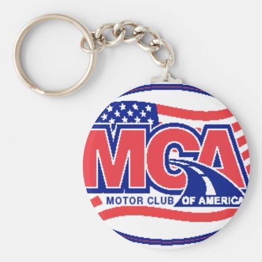 Club del motor de América Llavero Personalizado