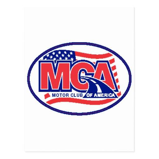 Club del motor de América Tarjeta Postal