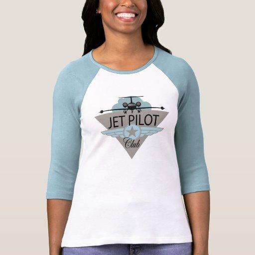 Club del piloto de jet camiseta