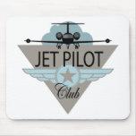 Club del piloto de jet tapetes de raton