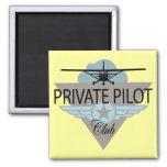 Club del piloto privado imán de frigorífico