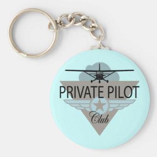 Club del piloto privado llaveros personalizados
