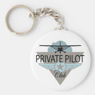 Club del piloto privado llavero personalizado