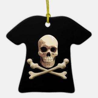 Club del pirata adorno de cerámica en forma de camiseta