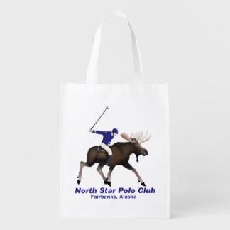 Club del polo de la estrella del norte bolsas reutilizables