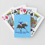 Club del polo de la estrella del norte baraja cartas de poker