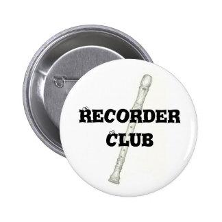 Club del registrador pin redondo de 2 pulgadas
