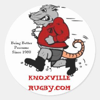 Club del rugbi de Knoxville Etiqueta Redonda