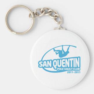 Club del salto con pértiga de San Quentin Llavero Redondo Tipo Pin