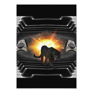 club disco DJ keyboard Black panther Deejay Card