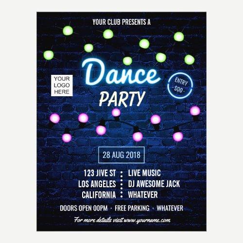 Club DJ Dance Music Party add logo invitation Flyer