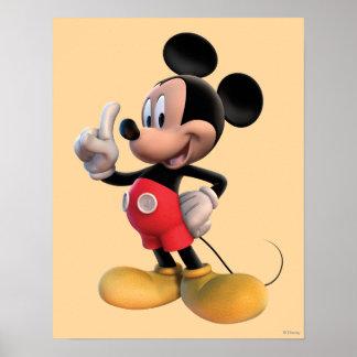 Club el | de Mickey Mouse que señala Póster
