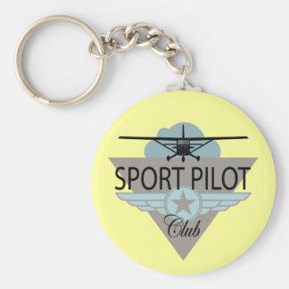 Club experimental del deporte llavero redondo tipo pin