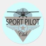Club experimental del deporte pegatina redonda