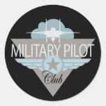 Club experimental militar pegatina redonda