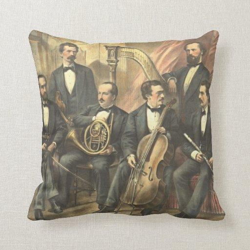 Club filarmónico original 1875 de Boston Cojin