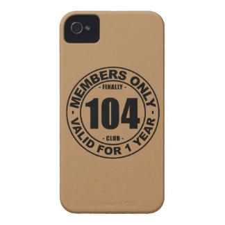 Club finalmente 104 Case-Mate iPhone 4 protectores