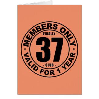 Club finalmente 37 tarjeta de felicitación