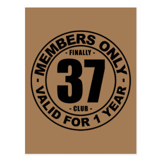 Club finalmente 37 tarjeta postal