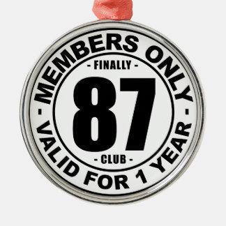 Club finalmente 87 adorno navideño redondo de metal