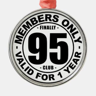 Club finalmente 95 adorno navideño redondo de metal