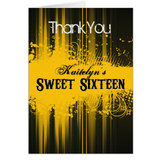 Club Flyer Look Sweet 16 Thank You Card
