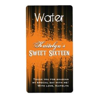 Club Flyer Look Sweet 16 Water Label zazzle_label
