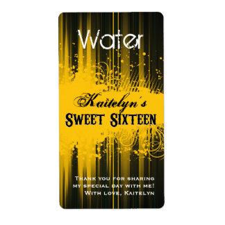 Club Flyer Look Sweet 16 Water Label