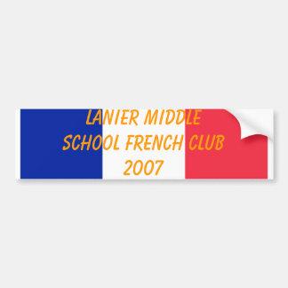 Club francés 2007 de Lanier Pegatina Para Auto