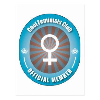 Club fresco de las feministas tarjeta postal