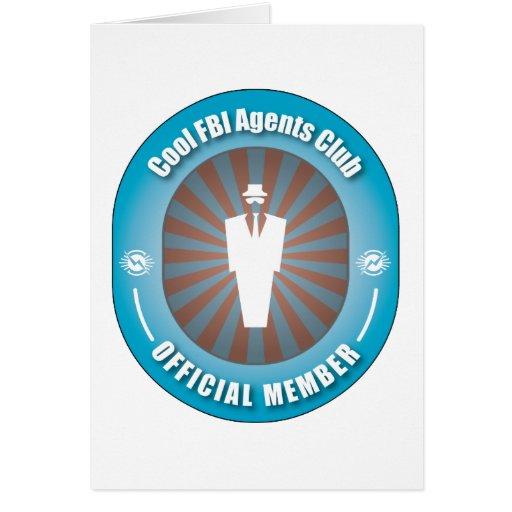 Club fresco de los agentes del FBI Tarjeta De Felicitación