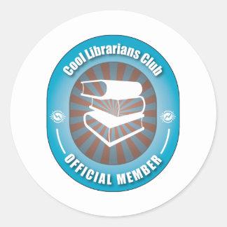Club fresco de los bibliotecarios pegatina redonda