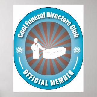Club fresco de los directores de funeraria póster