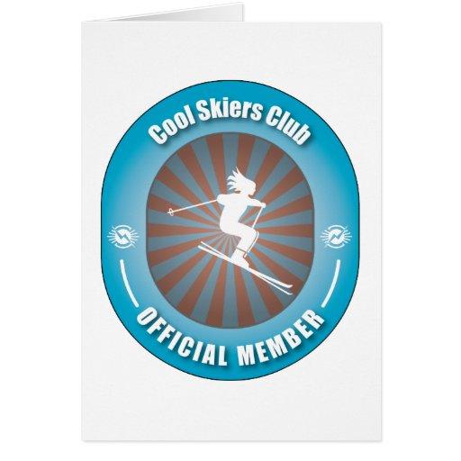 Club fresco de los esquiadores tarjetón