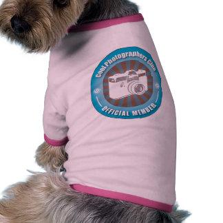 Club fresco de los fotógrafos camiseta con mangas para perro