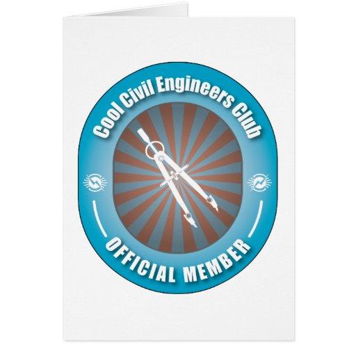 Club fresco de los ingenieros civiles tarjeta