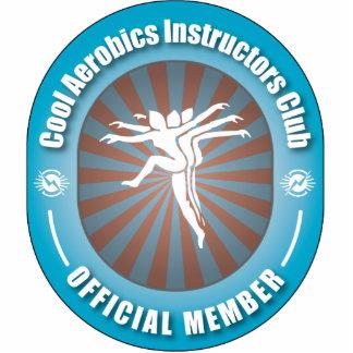 Club fresco de los instructores de los aeróbicos escultura fotográfica