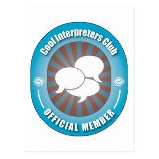 Club fresco de los intérpretes postal