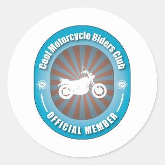 Club fresco de los jinetes de la motocicleta pegatina redonda