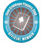 Club fresco de los jugadores de Cribbage Esculturas Fotográficas