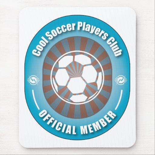 Club fresco de los jugadores de fútbol tapete de ratón